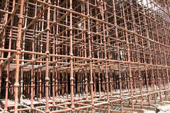 Construction site scaffolding Royalty Free Stock Photo