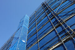 Construction Site Scaffolding Stock Image