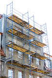Construction site. scaffolding platforms for work  Royalty Free Stock Photos
