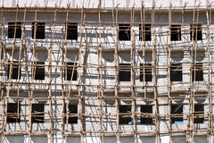 Construction site with scaffolding Royalty Free Stock Images