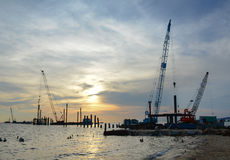 A construction site on the sea in Phu Quoc, Vietnam Stock Photography