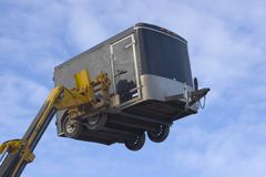 Construction site security. Tools trailer out of reach Royalty Free Stock Photography
