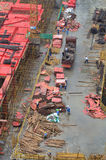 Construction site in Shanghai. Royalty Free Stock Photography