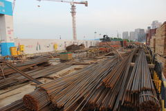 The construction site in SHEKOU NANSHAN SHENZHEN Stock Photos