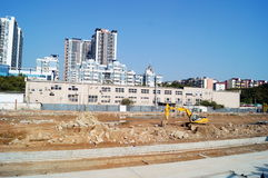 The construction site, in Shenzhen, China Royalty Free Stock Images