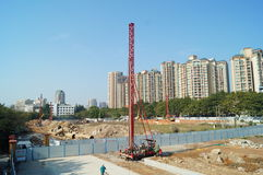 The construction site, in Shenzhen, China Royalty Free Stock Image