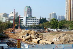 The construction site, in Shenzhen, China Stock Photography