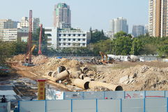 The construction site, in Shenzhen, China Royalty Free Stock Photography