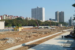 The construction site, in Shenzhen, China Royalty Free Stock Photo