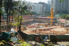 The construction site at the Shenzhen University, China. The construction site at the Shenzhen University, a new teaching building is being built. In China Royalty Free Stock Photo