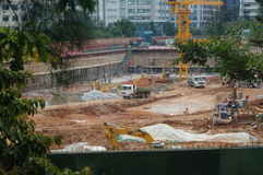 The construction site at the Shenzhen University, China. The construction site at the Shenzhen University, a new teaching building is being built. In China Stock Photography