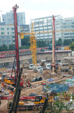 The construction site at the Shenzhen University, China. The construction site at the Shenzhen University, a new teaching building is being built. In China Royalty Free Stock Photos