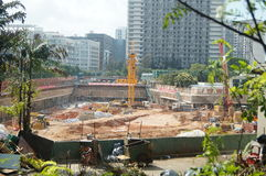 The construction site at the Shenzhen University, China. The construction site at the Shenzhen University, a new teaching building is being built. In China Stock Images