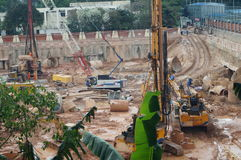 The construction site at the Shenzhen University, China. The construction site at the Shenzhen University, a new teaching building is being built. In China Royalty Free Stock Images