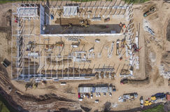 Construction site shot from above. Stock Photos