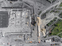Construction site shot from above.Industrial area. Stock Images