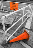 Construction Site and Signs; Selective Color Stock Images