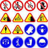 Construction site signs / vectors royalty free stock photo