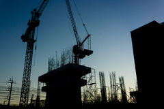Construction Site Silhouette Stock Photography