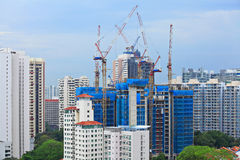 Construction site in Singapore Royalty Free Stock Images
