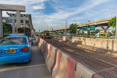 Construction site of sky train redline Bangsue-Rangsit. Bangkok, Thailand - June 3, 2016 : Construction site of sky train redline from Bangsue to Rangsit is a Royalty Free Stock Images