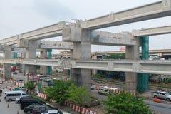 Construction site of sky train redline Bangsue-Rangsit. Bangkok, Thailand - September 19, 2015 : Construction site of sky train redline from Bangsue to Rangsit Stock Photos