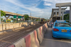 Construction site of sky train redline Bangsue-Rangsit Royalty Free Stock Images