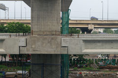 Construction site of sky train redline Bangsue-Rangsit Stock Photos