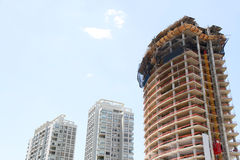 Construction site of a Skyscraper in Buenos Aires Stock Images