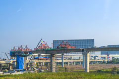 Construction site of the skytrain Stock Images