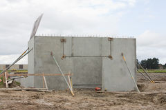 Construction site. A small industrial construction site Royalty Free Stock Images