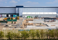 Construction site on Sports Direct property Royalty Free Stock Photography