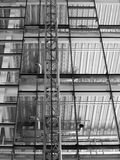 Construction site with steel girders Stock Image