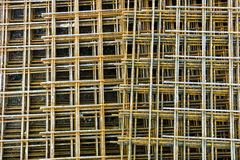 Steel mesh at construction site Royalty Free Stock Image