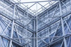 Construction site with steel structure Royalty Free Stock Photos