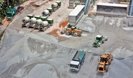 Construction site stockpile Stock Images