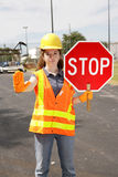 Construction Site Stop Royalty Free Stock Image