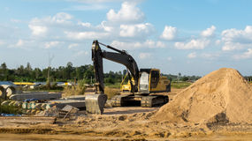 Construction Site in Sunny Day. Construction Site in Thailand, Sunny Day Stock Photography