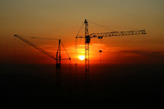 Construction site on sunset. Stock Photography