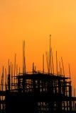 Construction site at sunset Stock Photos