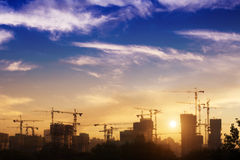 Construction site. At sunset,Beijing Stock Photography