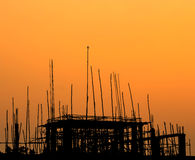 Construction site at sunset Royalty Free Stock Image