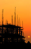 Construction site at sunset Royalty Free Stock Photos