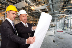 Construction site supervising Stock Photography