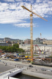 Construction site and surroundings in Oslo, Norway Royalty Free Stock Images