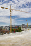 Construction site and surroundings in Oslo, Norway Royalty Free Stock Photography