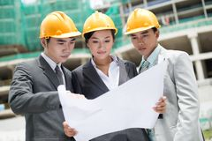 Construction site team Stock Photos