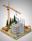 Construction site and technique involved. Royalty Free Stock Photography