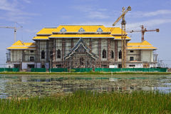 Construction site of Thai style architecture Royalty Free Stock Images