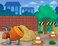 Construction site theme image 1 Royalty Free Stock Image